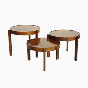Italian Wooden Nesting Tables, 1950s