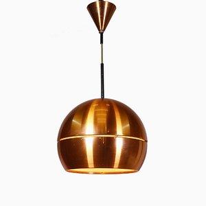 Lámpara colgante Mid-Century Modern de cobre
