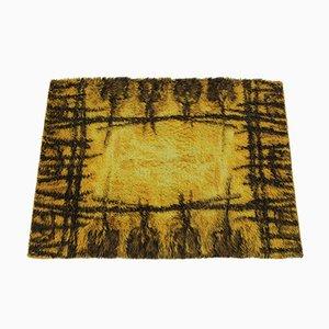 Alfombra danesa Mid-Century de lana, años 70