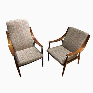 FD 144 Armchairs by Orla Mølgaard-Nielsen for France & Daverkosen, 1953, Set of 2