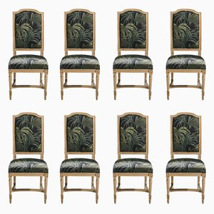 Louis XV Style Chairs, 1950s, Set of 8