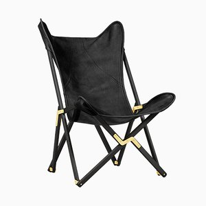 Black Telami Tripolina Leather Chair from Telami