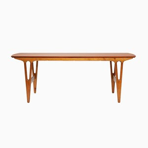 Model 25 Teak & Oak Table by Erling Torvits for Heltborg, 1960s