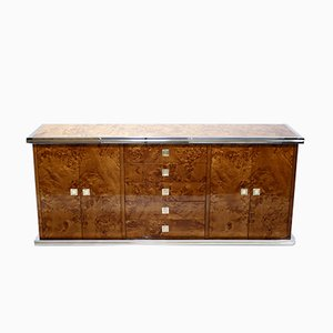 Messing & Chrom Sideboard, 1970er