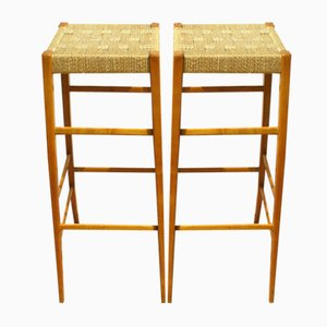 Italian Stools from Cassina, 1940s, Set of 2