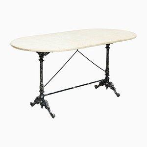 Französischer Marmor Tisch, 1950er