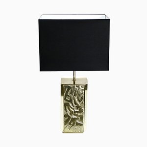 Large Bronze Table Lamp from Lova Creation, 1970s