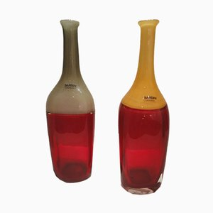Bottiglie di Alfredo Barbini, anni '70, set di 2