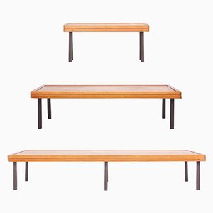Mid-Century Formalist Benches, 1960s, Set of 3