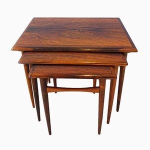 Tables Gigognes en Palissandre par Kai Kristiansen pour Skovmand & Andersen, 1960s