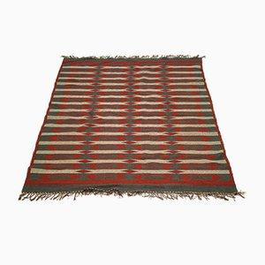 Schwedischer Teppich mit geometrischem Muster und Doppelgewebe, 1950er