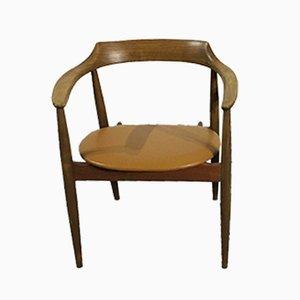 Elm & Leather Model ST750 Armchair by Arne Wahl Iversen, 1960s