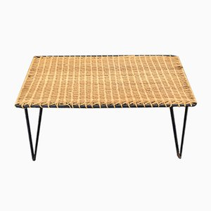 Wicker Coffee Table by Raoul Guys, 1950s