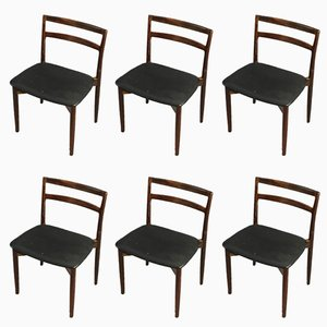 Model 61 Dining Chairs by Harry Østergaard for Randers Møbelfabrik, 1960s, Set of 6