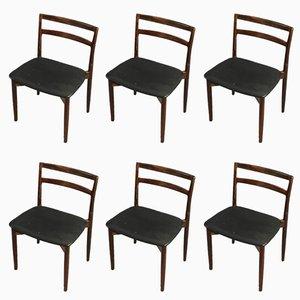 Modell 61 Esszimmerstühle von Harry Østergaard für Randers Møbelfabrik, 1960er, 6er Set