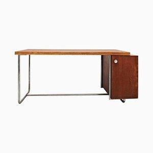 Schreibtisch in Holz & Rohrmetall von Elmar Berkovich, 1930er