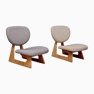 Lounge Chairs by Junzo Sakakura for Tendo Mokko, 1960s, Set of 2