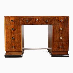 Art Deco Desk in Walnut, 1930s