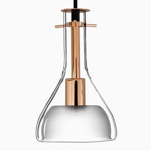Lampada da soffitto Wolkje S color oro rosa di Fällander Glas per Akaru