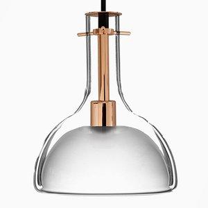 Lampada a sospensione Wolkje M color oro rosa di Fällander Glas per Akaru