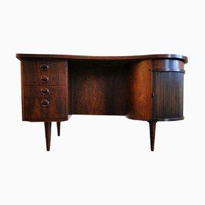 Escritorio modelo 54 de palisandro de Kai Kristiansen para FM Furniture, años 50