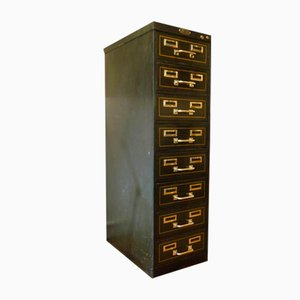 Vintage Industrial 8-Drawer Filing Cabinet from Strafor
