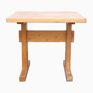 Vintage Les Arcs Pine Table by Charlotte Perriand
