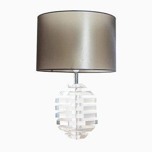 Lámpara de mesa de lucite, años 60