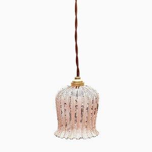 Lacquered & Perforated Metal Pink Lamp by Mathieu Matégot, 1950s