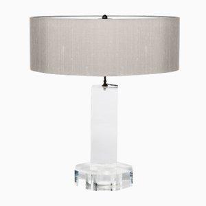 Tischlampe aus Plexiglas & Seide, 1970er