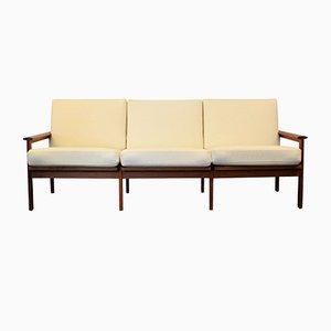 Capella 3-Sitzer Teak Sofa von Illum Wikkelso für Niels Eilersen, 1960er