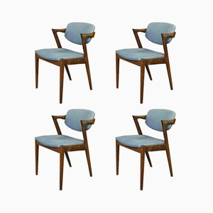 Model 42 Rosewood Dining Chairs by Kai Kristiansen for Schou Andersen, 1960s, Set of 4