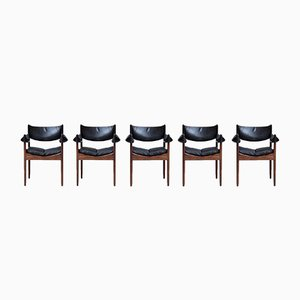 Rosewood Dining Chairs by Kristian Vedel for Søren Willadsen, 1960s, Set of 5