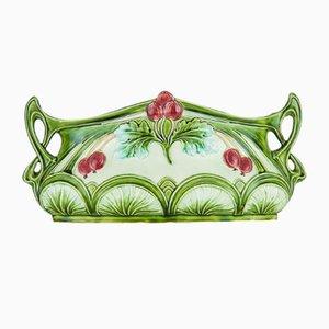 Vaso da fiori Art Nouveau in ceramica, inizio XX secolo
