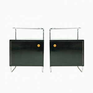 Bauhaus Nachttische von Rudolf Vichr für Kovona, 2er Set