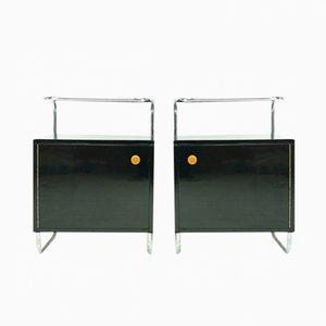 Comodini Bauhaus di Rudolf Vichr per Kovona, set di 2