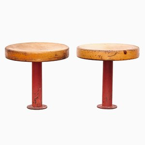 Les Arcs Stools by Charlotte Perriand, 1960s, Set of 2
