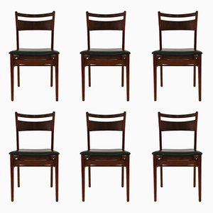 Side Chairs by Arne Vodder, 1960s, Set of 6