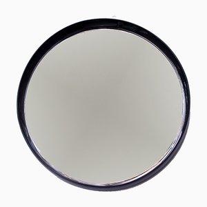 Schwarz lackierter Spiegel mit Holzrahmen, 1960er
