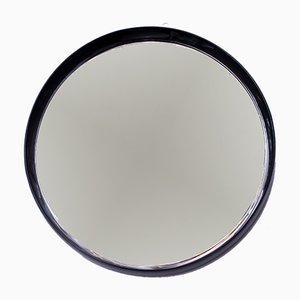 Specchio in legno laccato nero, anni '60