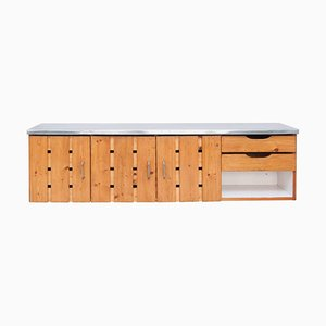 Vintage Les Arcs Sideboard by Charlotte Perriand
