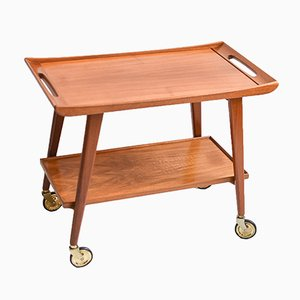 Mid-Century Wooden Bar Cart