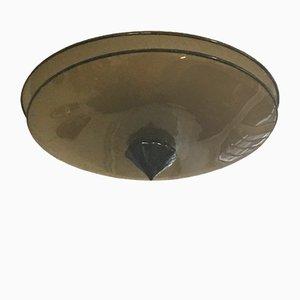 Lampada da soffitto in vetro di Murano, anni '60