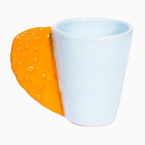 Tasse Spinosa Orange et Blanche par Marco Rocco, 2018