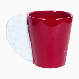 Spinosa Mug in Maroon & White by Marco Rocco, 2018