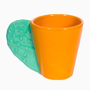 Spinosa Mug in Orange & Teal by Marco Rocco, 2018