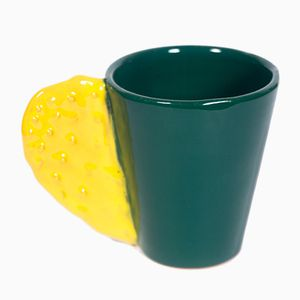 Spinosa Mug in Yellow & Forest Green by Marco Rocco, 2018