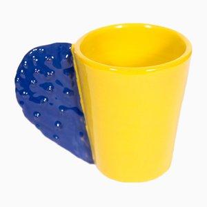 Taza Spinosa en azul y amarillo de Marco Rocco, 2018
