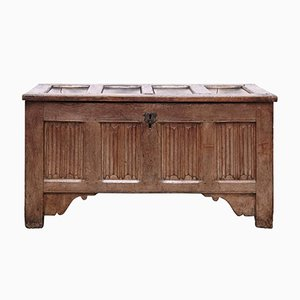 Antique Gothic Oak Chest, 1500s