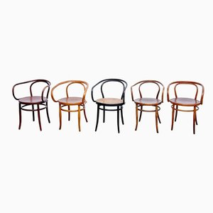Bentwood Armchairs, 1940s, Set of 5